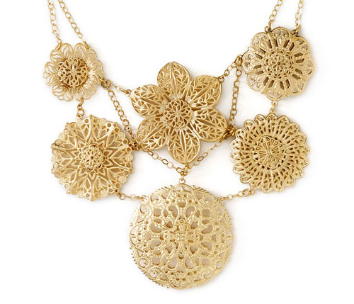 Nordstrom Goldtone Bib Necklace
